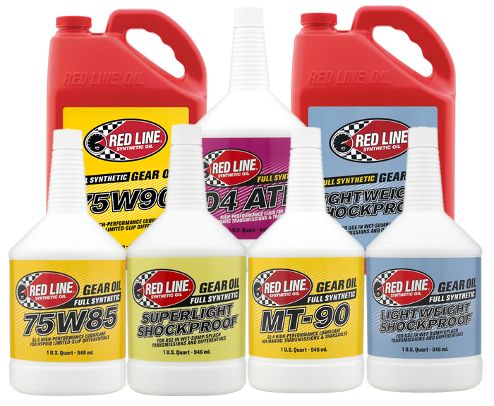 Red Line Gear Oils - Car Service Packs
